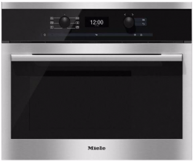 MIELE Contour line DG6300 Built-in compact steam oven | Clean Stainless Steel
